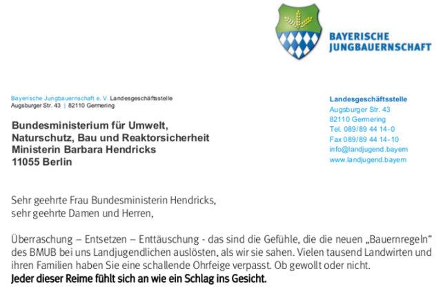 Offener Brief an Bundesumweltministerin Hendricks