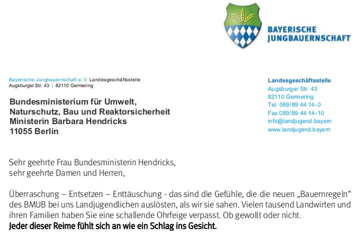 Offener Brief An Bundesumweltministerin Hendricks Bayerische