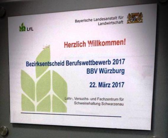 Bezirksentscheid Unterfranken im Berufswettbewerb der deutschen Landjugend