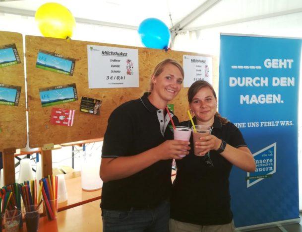 Frische Shakes beim Fendt SAATEN-UNION Feldtag 2018 in Unterfranken