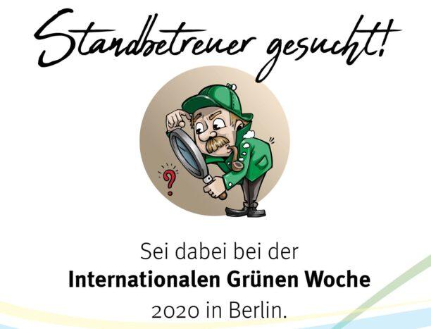 Wir suchen Standbetreuer für den Landjugendstand bei der Grünen Woche 2020