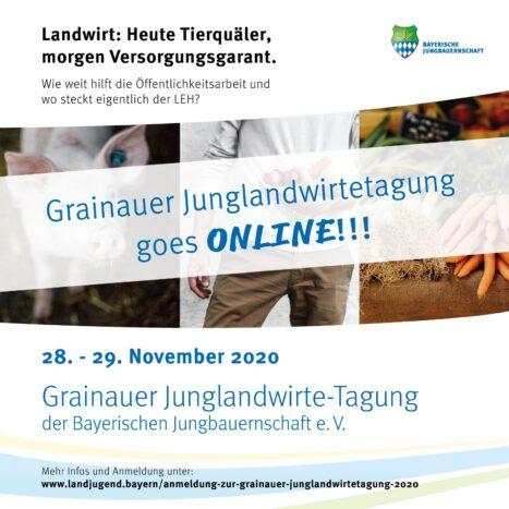 Grainauer Junglandwirtetagung 2020 goes online!