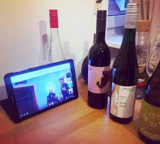 Gelungene Online-Weinverkostung des BV Oberfranken