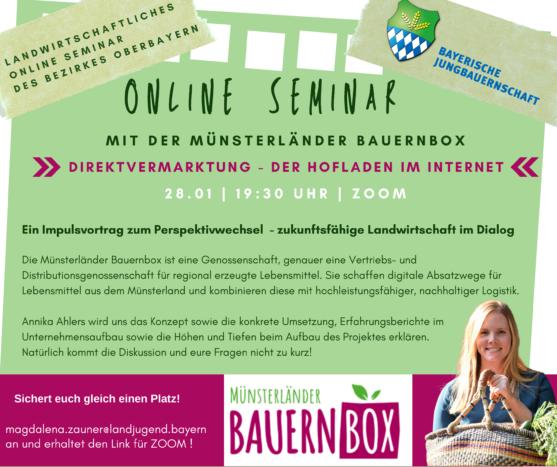 Seminar zu Direktvermarktung mit der Münsterländer Bauernbox