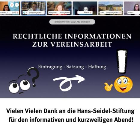 Vereinsrechtsseminar mit der Hans-Seidel-Stiftung